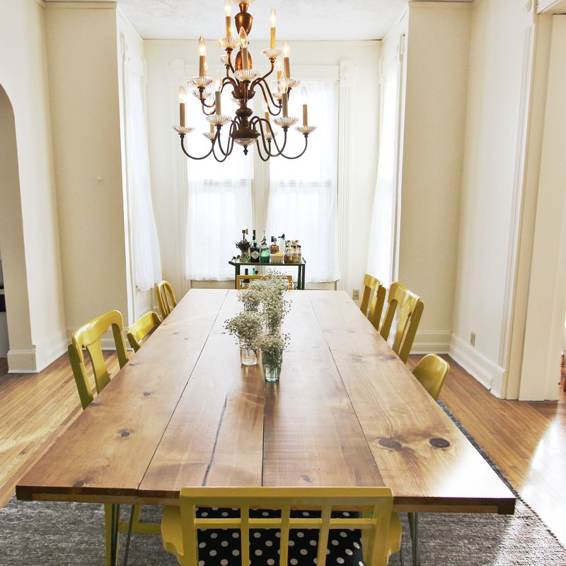 diy dining room table by a beautiful mess - Build Dining Room Table
