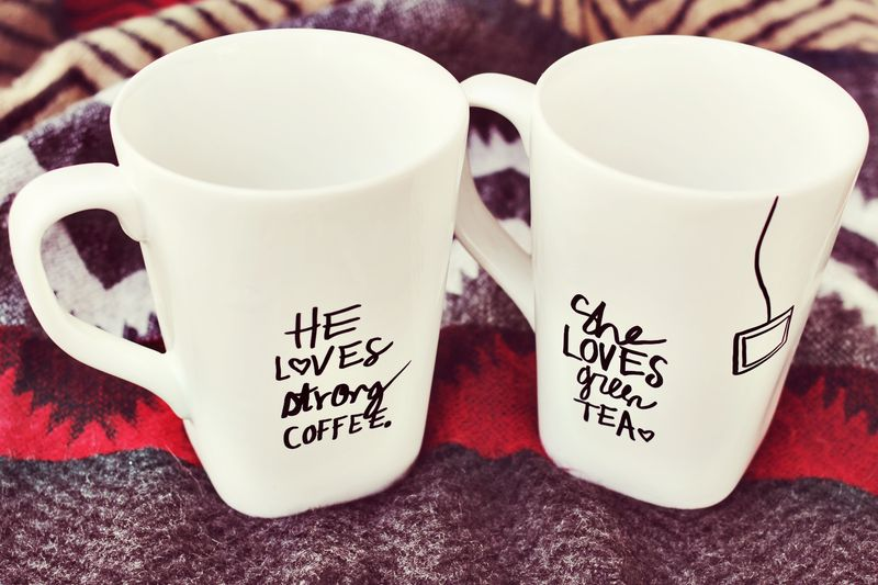 DIY Sharpie Mug Set