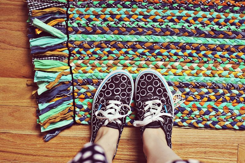 Hand Braided Rug DIY