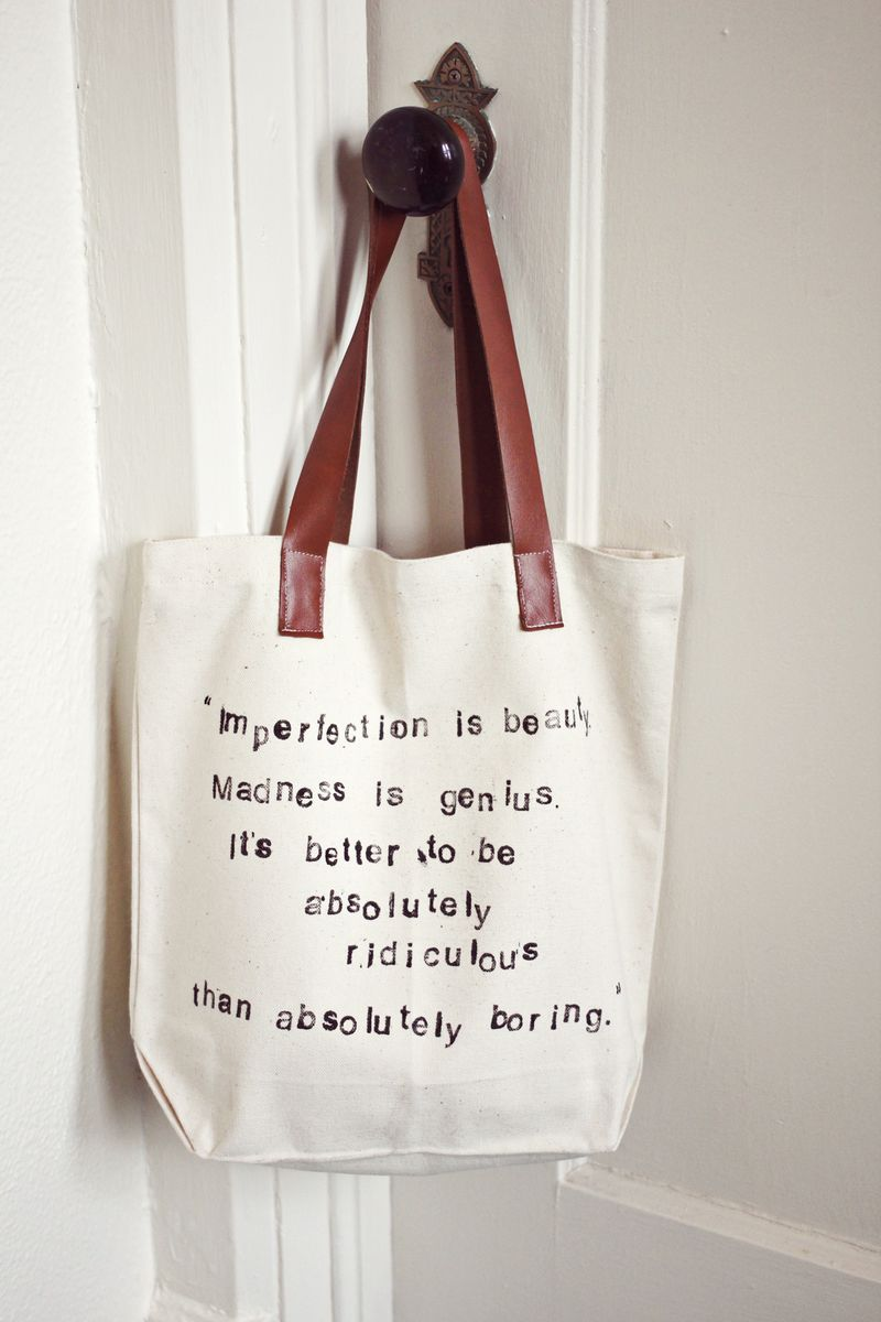Hand Stamped Tote
