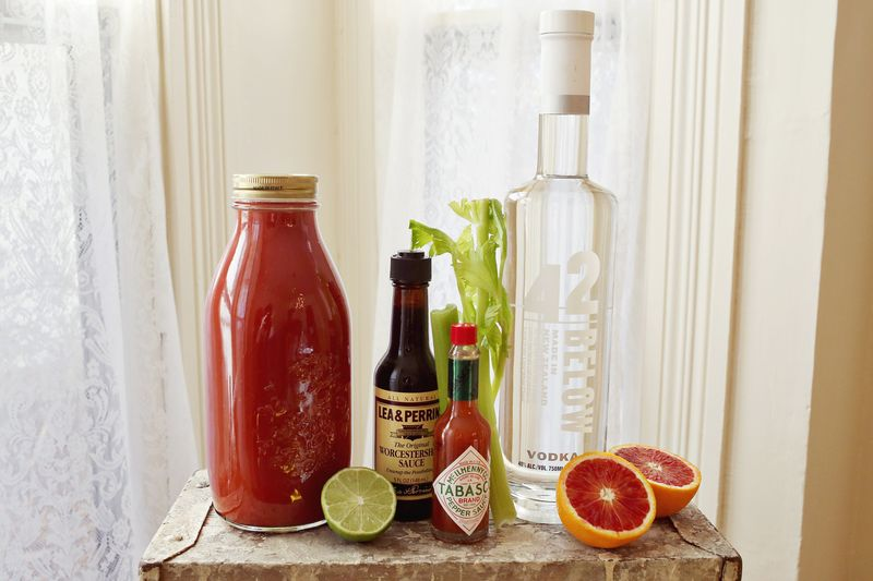 Blood Orange Bloody Mary Supplies Needed