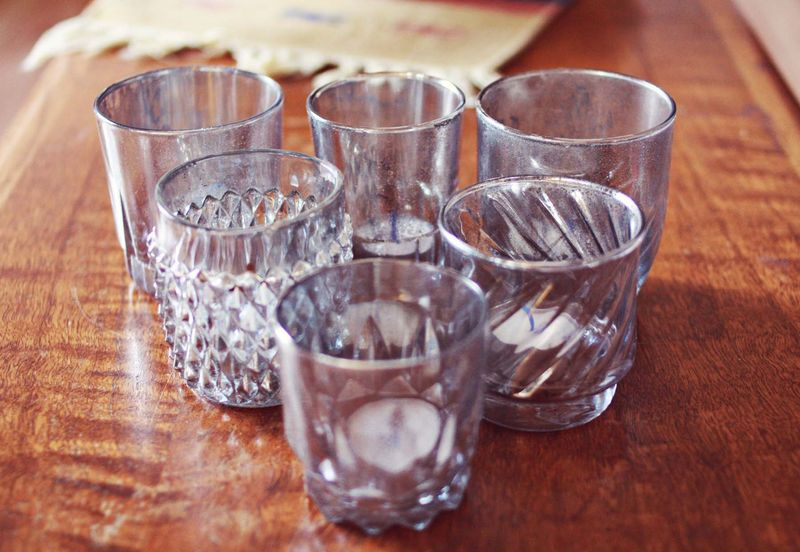 Aged mercury glass candle holders a beautiful mess for Homemade candle holders