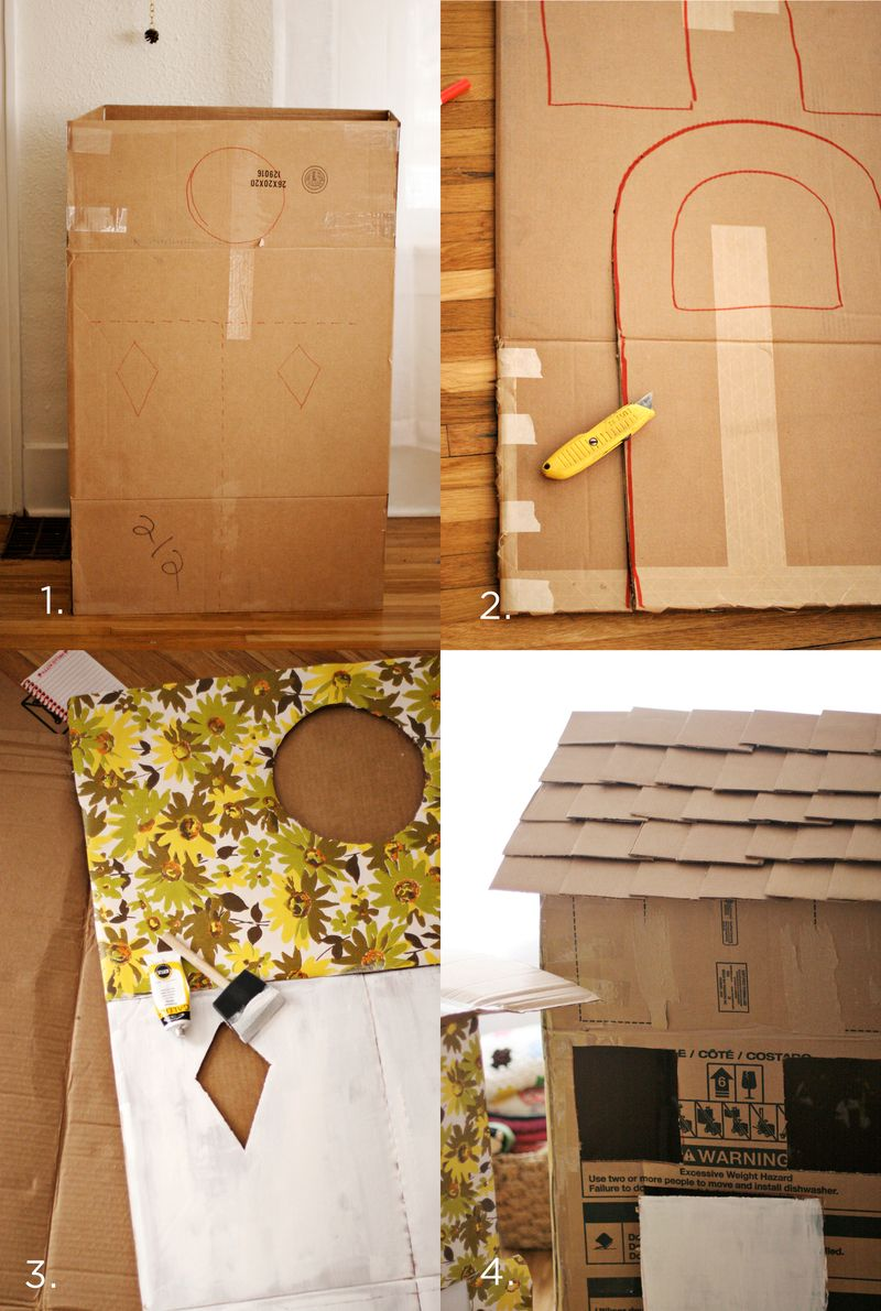 DIY Cardboard House Steps