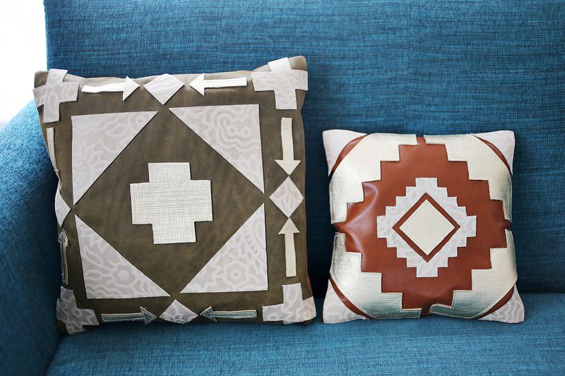 here are the finished designs leather pillow designs 2