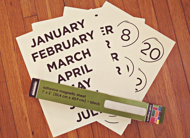Diy Refrigerator Calendar A Beautiful Mess