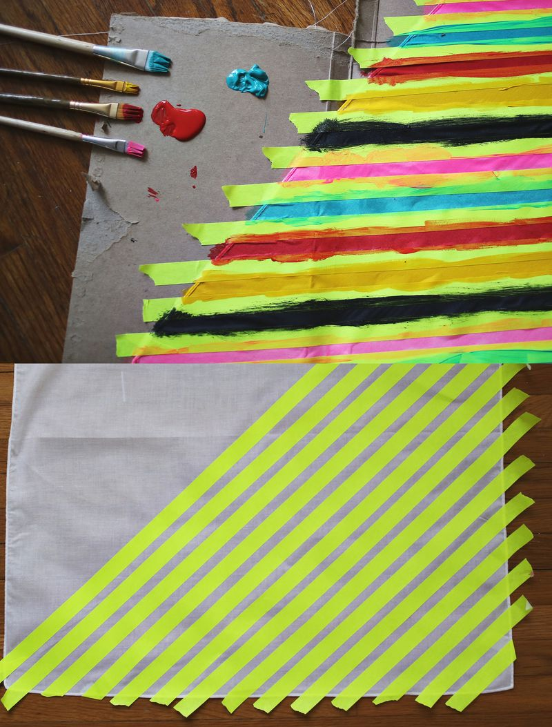 How to make a simple stripe scarf
