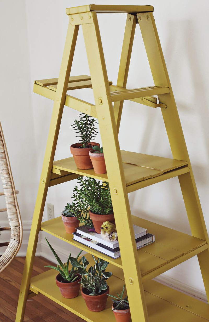 pinterest diy picture frame ideas - Nesting Ladder Display Makeover – A Beautiful Mess
