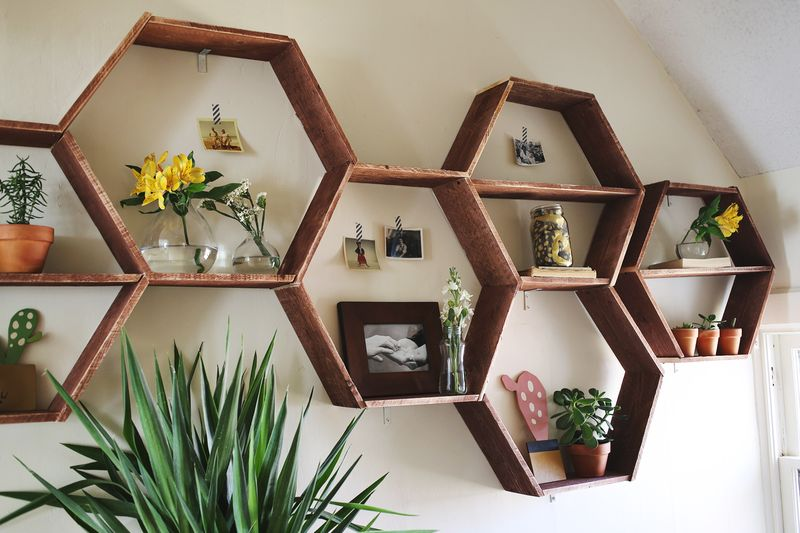 Honeycomb Shelves- detail