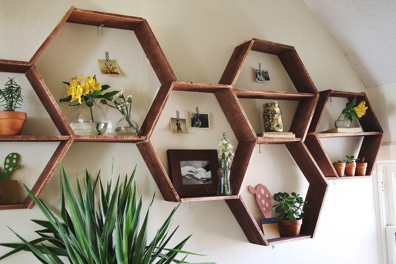 ... Honeycomb Shelves-detail