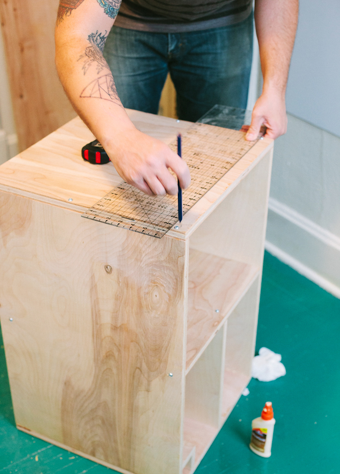 Bedside table diy a beautiful mess how to build a bedside table watchthetrailerfo