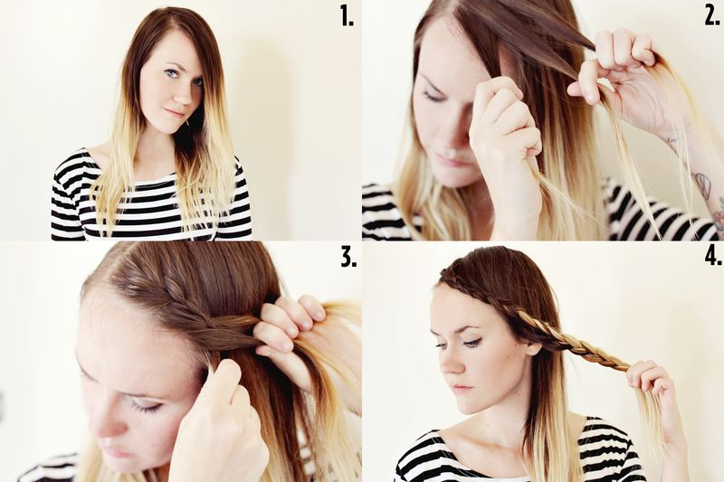 How to style braided bangs a beautiful mess braided bangs step by step urmus Image collections