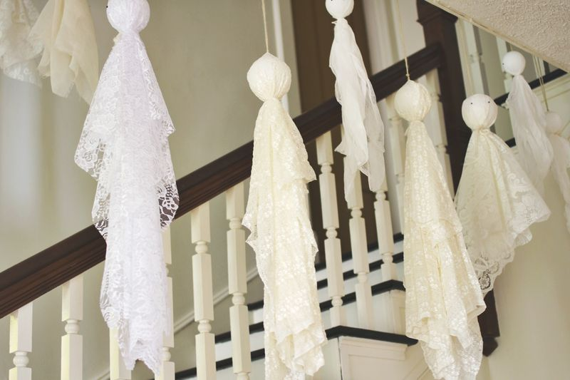 super easy ghost decorations – a beautiful mess