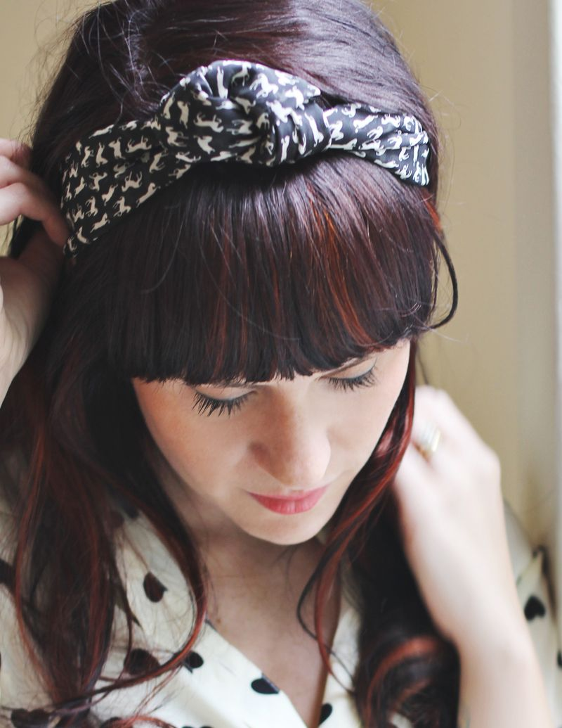 Quick scarf styling ideas a beautiful mess scarf styling knotted headband scarf styling knotted headband ccuart Gallery