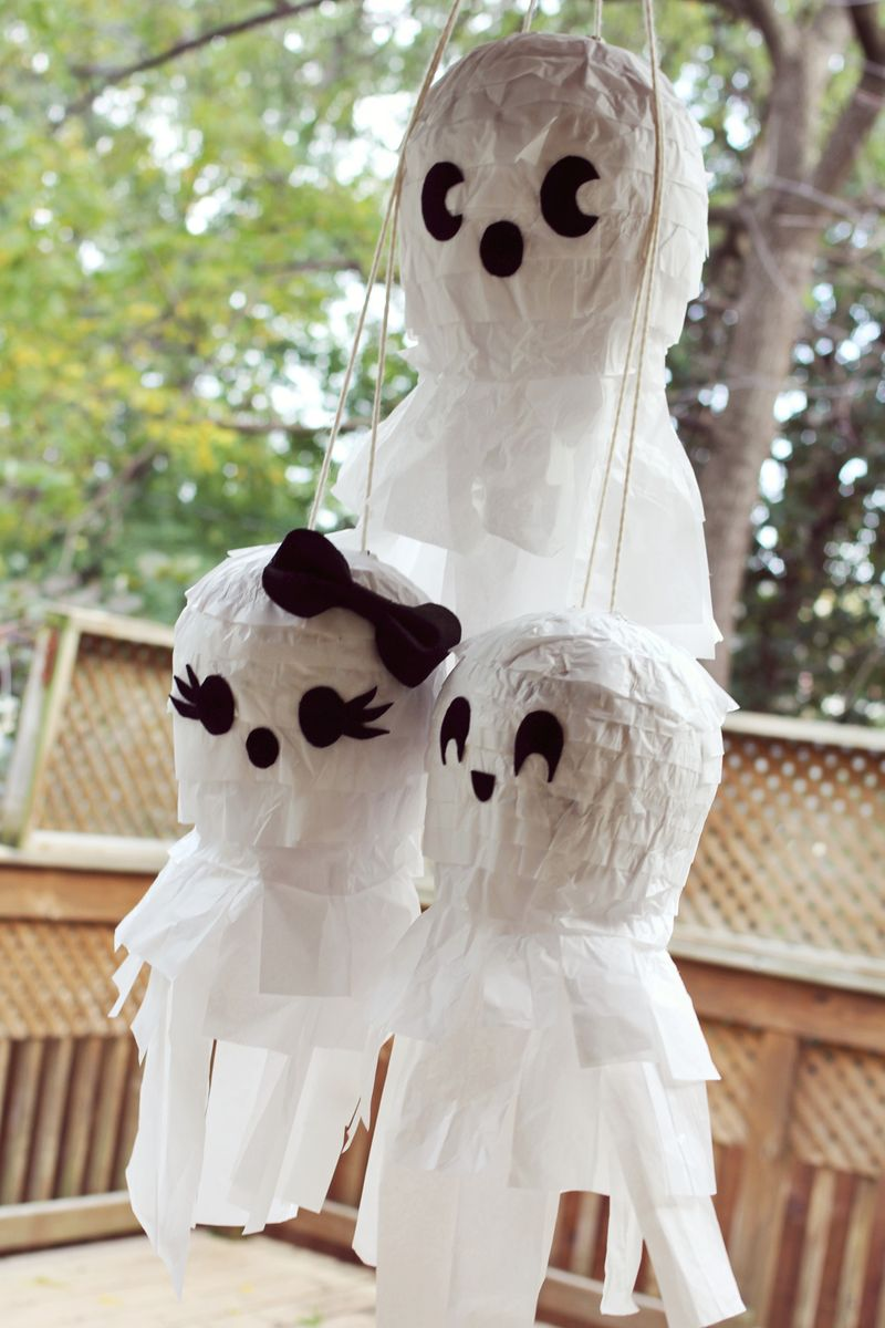 Ghost Pinata DIY from A Beautiful Mess