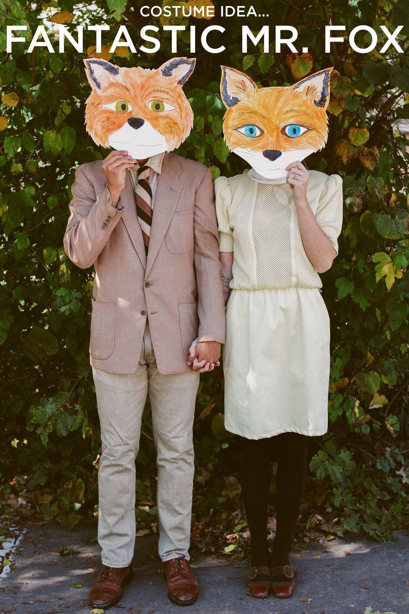 Fantastic mr. fox idea ... & Last Minute Costume Ideas For Couples - A Beautiful Mess