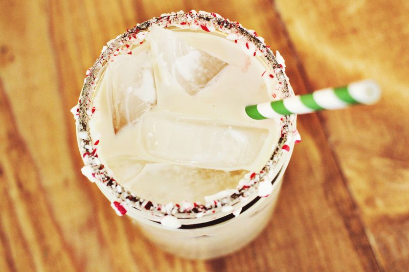 Peppermint white russian recipe - christmas recipe idea