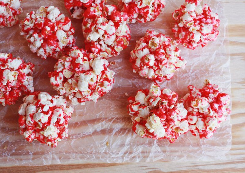 Popcorn balls christmas recipe idea