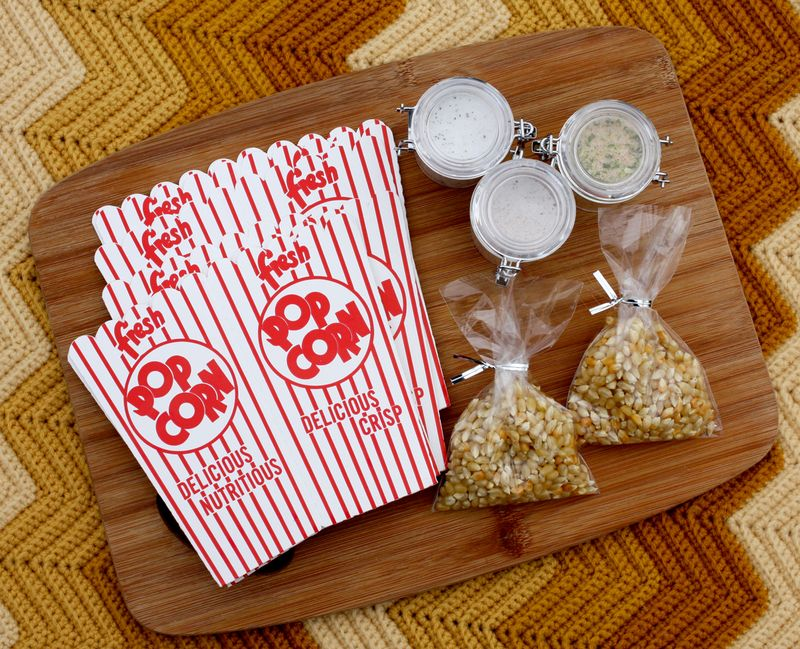 Popcorn kit - christmas recipe gift idea
