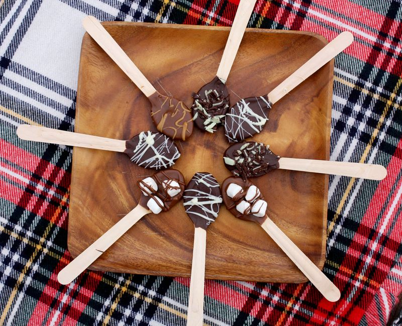 Hot chocolate spoons - christmas recipe gift idea