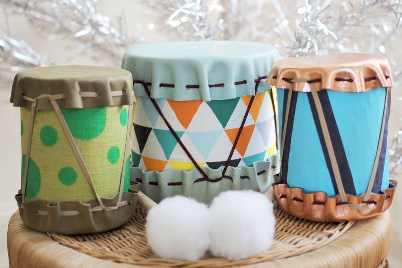 Gift idea diy drums a beautiful mess diy drums diy handmade drums negle Images
