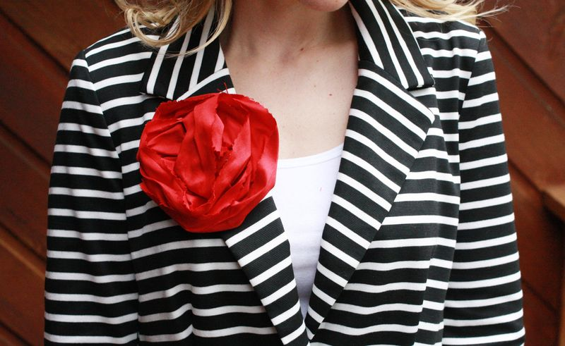 Silk Floral Brooches