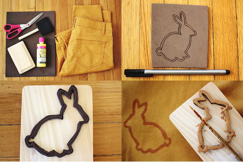 Bunny pants steps diy
