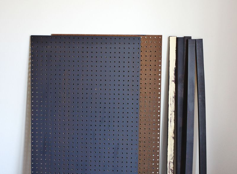 Kitchen pegboard supplies