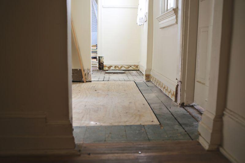 Soon-to-be beautiful hallway