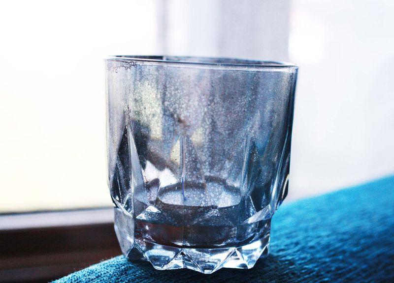 Vinegar, water and mirror like spray paint