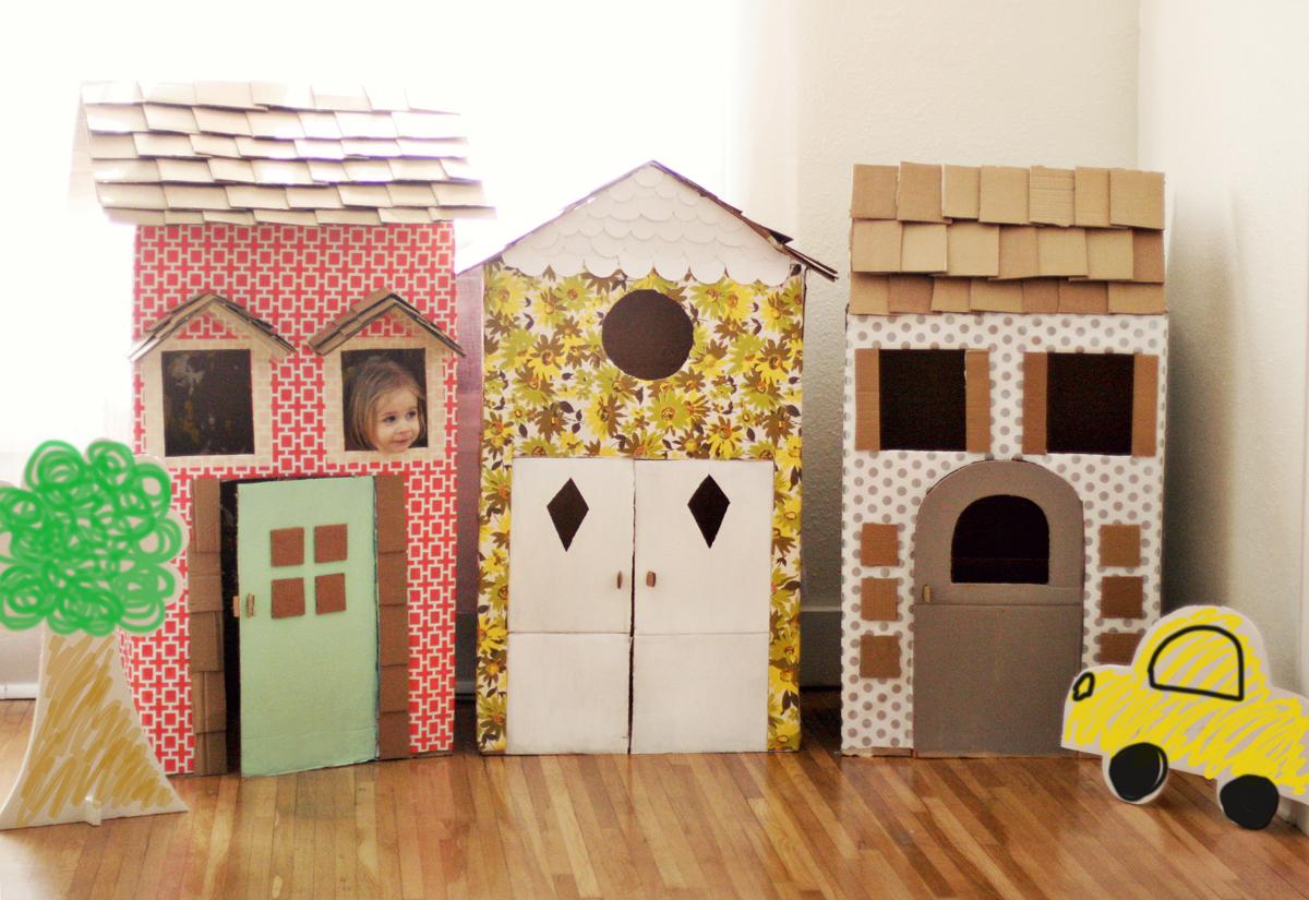 Маленькие домики из картона своими руками