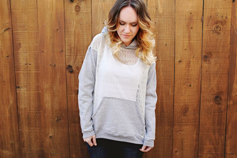 Lace Hoodie DIY A Beautiful Mess