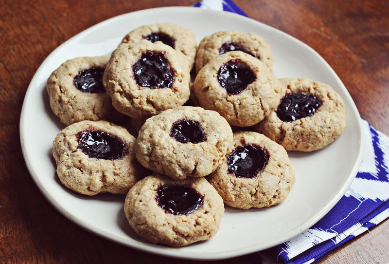 Peanut butter and jelly cookies