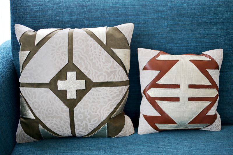Leather Pillow Designs 1