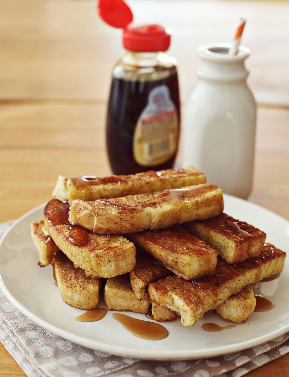 Baked French Toast Sticks - A Beautiful Mess