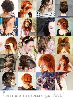 20 Hair Tutorials We Love!