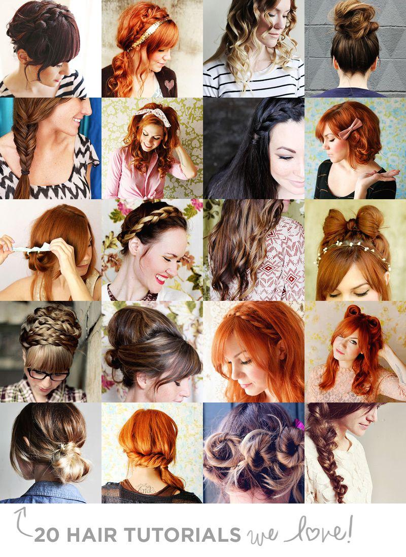 Swell 20 Hair Tutorials We Love A Beautiful Mess Short Hairstyles Gunalazisus