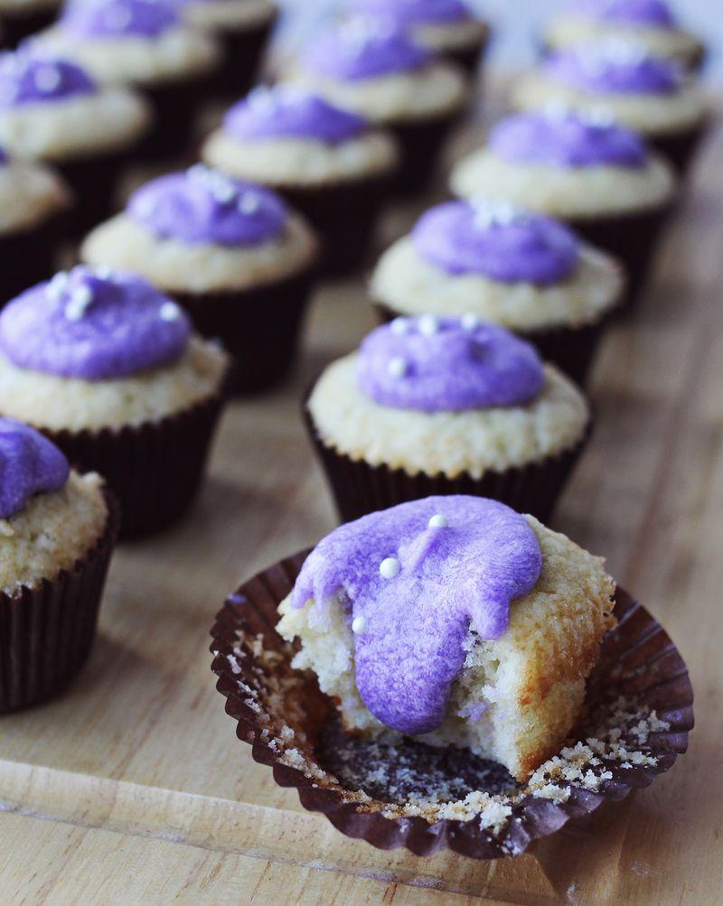 Lavender and vanilla cupcakes