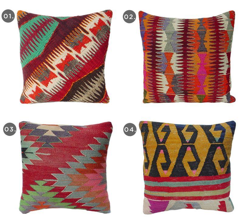 Pillow Talk- Kilim Pillows from Etsy