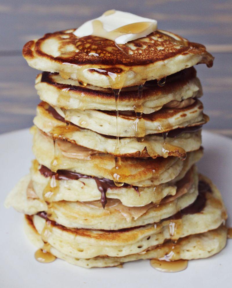 Banana nutella pancakes!