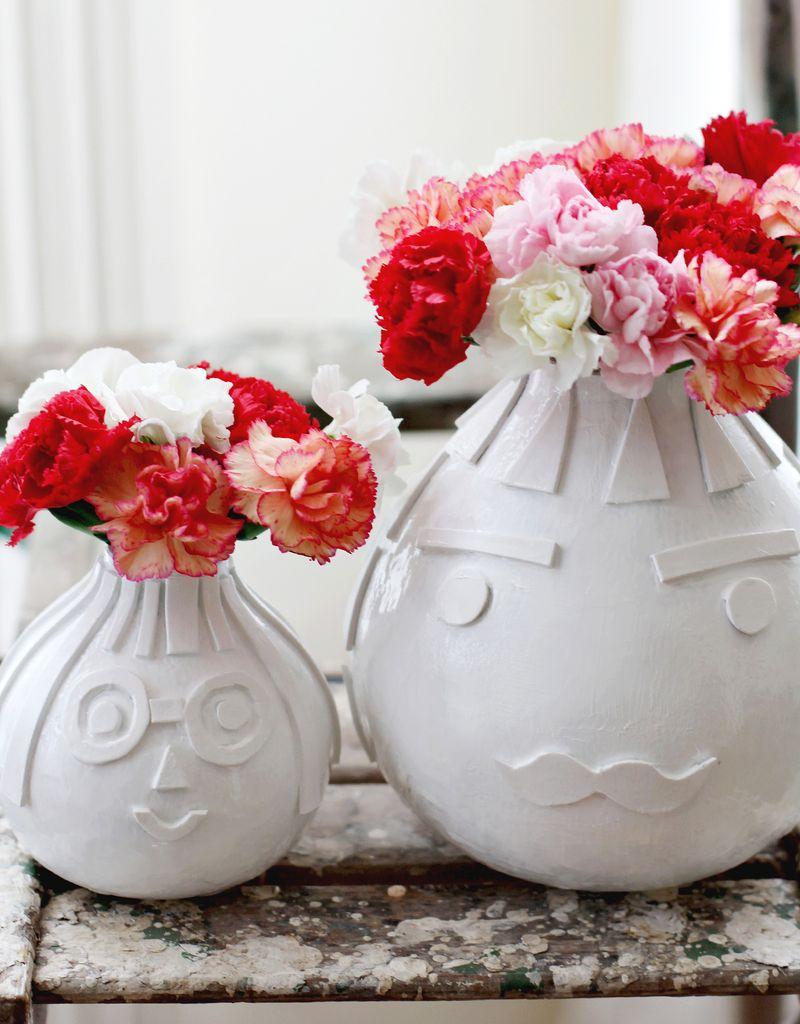 Vase texturé bricolage