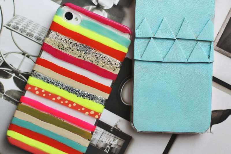 2 DIY iPhone Cases! - A Beautiful Mess