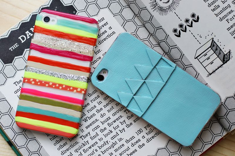 Wohoo- DIY iPhone covers! so cute and easy to customize!