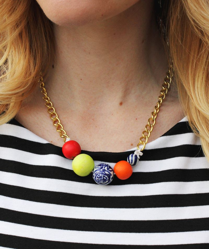 DIY Simple Statement Necklace