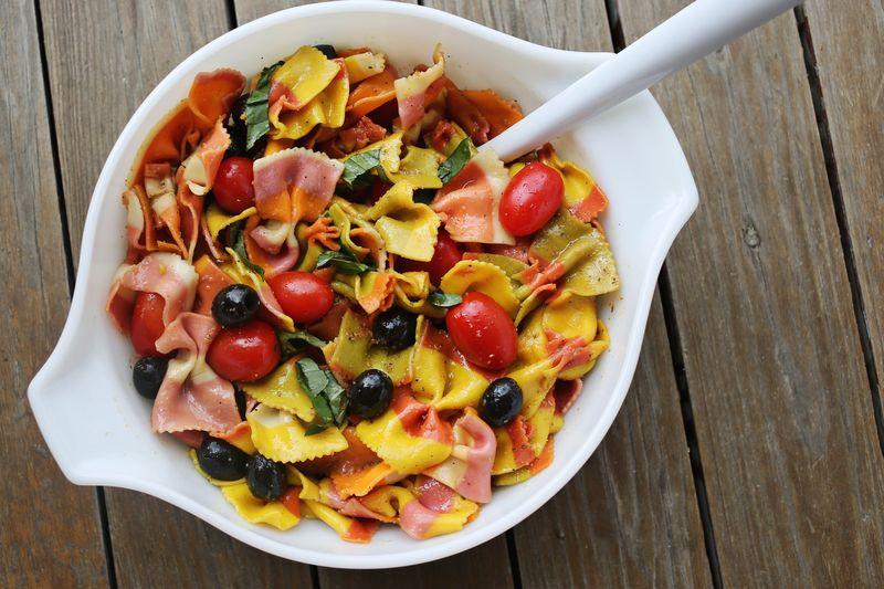 Rainbow Pasta Salad Recipe : www.abeautifulmess.com