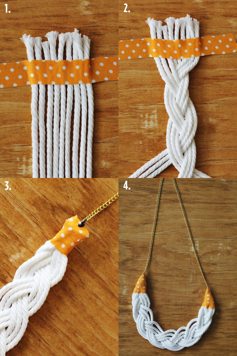 Rope Necklace DIY Steps
