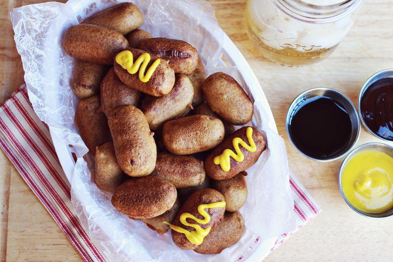 Mini corndogs