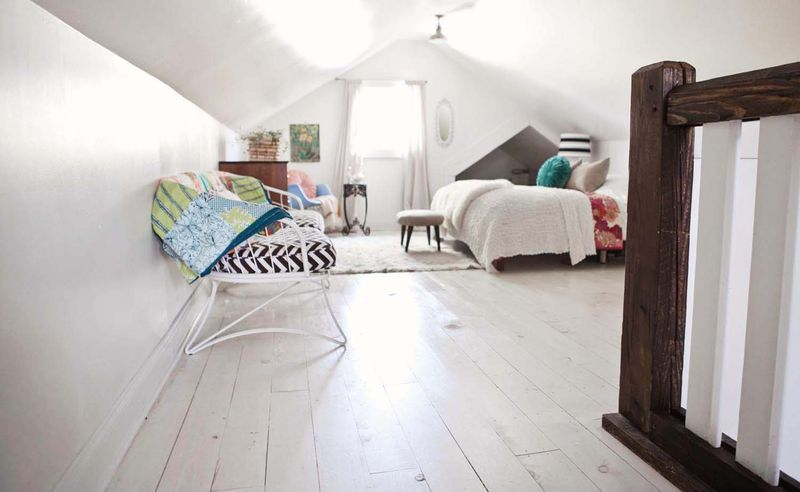 Beautiful white washed floors