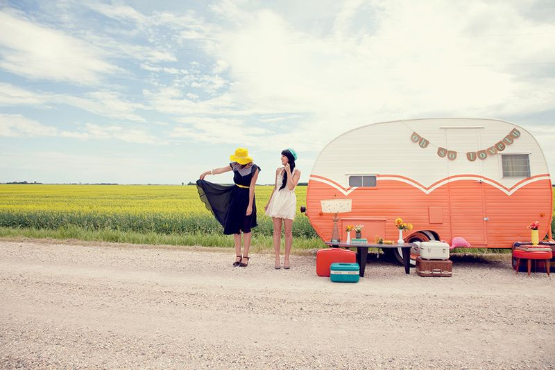 Adorable vintage trailer
