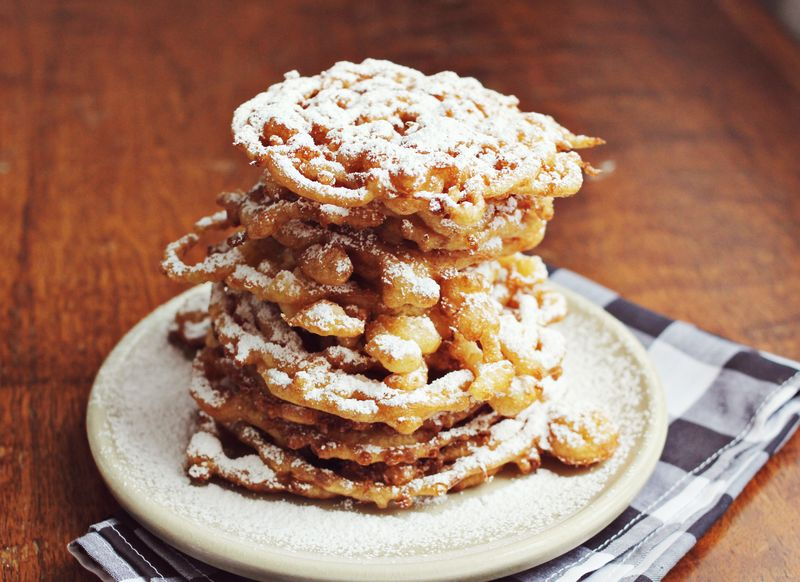 Homemade funnel cakes