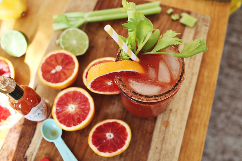 Blood orange bloody mary